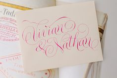 Love this gorgeous #calligraphy! {Petitserif Calligraphy & Design}