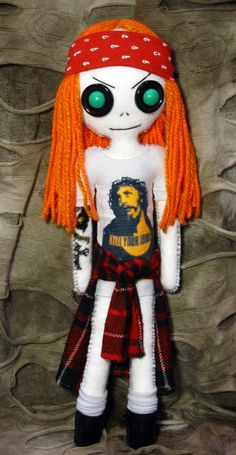 Axl Rose - Handmade doll by DollArmsBigVeins