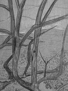"""SERUSIER Paul - Le Verger (Louvre RF40965-Recto) - Detail 16  -  TAGS/ details détail détails detalles drawing drawings dessins dessin croquis étude study studies sketch sketches """"dessins 19e"""" """"19th-century drawings"""" croquis étude study studies sketch sketches """"dessin français"""" """" French drawings"""" """"peintres français"""" """"French painters"""" Louvre Paris France Musée museum arbres tree trees trunk orchard grove nature"""