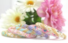 """These bracelets are the perfect spring accessory! Use discount code """"LisaL+L"""" for 20% off at lilyandlaurabracelets.com"""