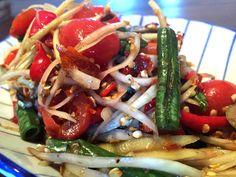 """The Wife's"" Green Papaya Salad Recipe with Plaa Ra #somtam #spicy #thaisalad #recipe"