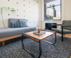 Taking a cue from services like ZipCar, Breather rents out furnished spaces in commercial buildings by the hour, giving people a place to work, sit or unwind in peace Montreal, Interior Design, Places, Table, Buildings, Room, Commercial, Inspiration, Furniture