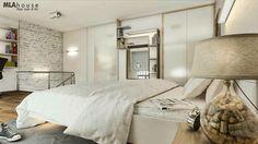 jasna przestrzeń i dużo szaf w sypialni