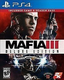 brand new factory sealed Mafia III: Deluxe Edition (Sony PlayStation 4 2016)