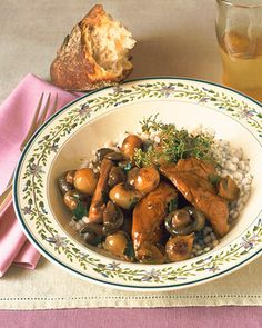 Coq au Vin, Pressure Cooker Variation   Martha Stewart Living - Serve this hearty and healthy stew over cooked rice, barley, or quinoa.