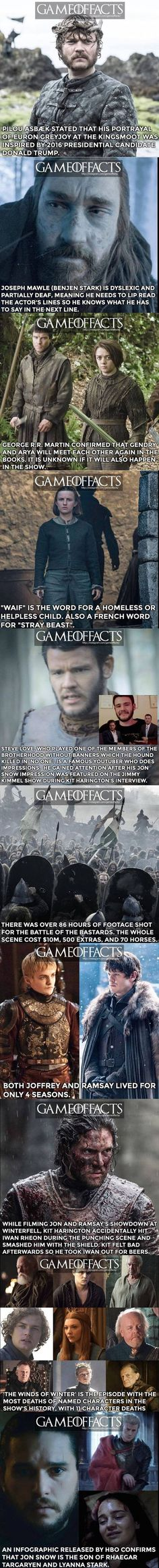 Game of thrones facts part 4