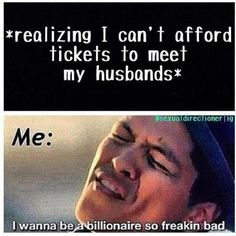then i'm going to buy out the entire stadium and the boys :) ... and sit there staring creepily right when they come on stage ......, lmao, then i'd let all the directioners outside in (: xx