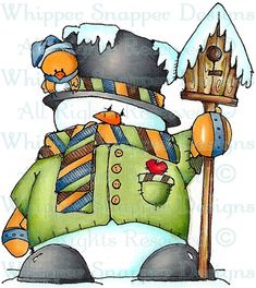 Whipper Snapper Designs is an expansive online store selling a large variety of unique rubber stamp designs. Christmas Rock, Christmas Signs, Christmas Snowman, Christmas Crafts, Christmas Decorations, Snowman Images, Snowmen Pictures, Christmas Pictures, Christmas Drawing