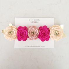 Felt Flower Crown Headband  Floral Crown by LittleBloomsHandmade