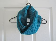 pretty.  chunky.   teal.  Chunky Knit // Infinity Scarf // Teal // With a by itsCOWLdoutside, $36.00