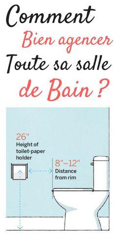 Dans cet article, nous allons uniquement nous intéresser à l'aménagement de la salle de bain. La question est de savoir comment bien aménager sa salle de bain (avec ou sans WC). En fait, tout est une question de chiffres (longueur et largeur). Aménager une salle de bain, c'est par exemple des poignées qui sont faciles à atteindre, des tiroirs qui s'ouvrent sans problèmes, et de la lumière là où vous en avez besoin. La salle de bain... #salledebain #aménagement #interieur #design