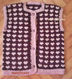 crochet baby vest, bebek yeleği, yelek http://www.marifetane.com/2015/04/acklamal-tg-isi-bebek-yelegi-resimli.html