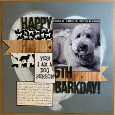 Dog Scrapbook Layouts, Scrapbook Pages, Scrapbooks, I Am Awesome, Pets, Facebook, Animals, Animales, Animaux
