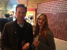 Rob and Ali wine tasting at Vinopolis, London