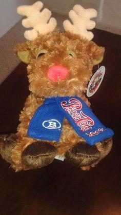 Pepsi Cola Original Holiday 2013 Plush Reindeer Fiesta Toy Boyd Gaming         #Fiesta