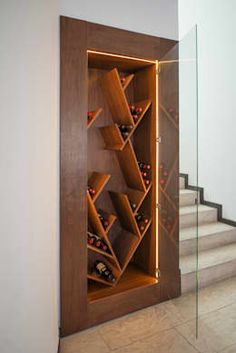 24 Moden Wall Wine Rack Designs For Classy Home Glass Wine Cellar, Home Wine Cellars, Wine Rack Design, Wine Cellar Design, Wine Rack Wall, Wine Wall, Wine Shelves, Wine Storage, Home Bar Designs