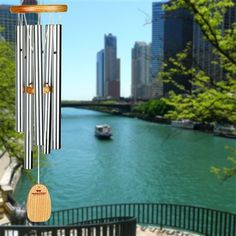 #Chicago Blues Chime.  Tuned to the notes of Chicago's boogie-woogie blues walking bass line. #windchimes