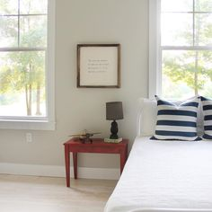 It's Sherwin Williams and I believe it's the swatch up from mindfully gray. Paint Colors, Swatch, Gallery Wall, Gray, Bed, Instagram Posts, Painting, Furniture, Home Decor
