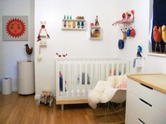 the boo and the boy: Gender neutral nurseries with white walls