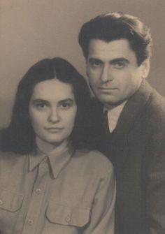 Polcz Alaine és Mészöly Miklós házasságkötésük évében, 1949-ben.