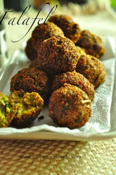falafel recipe Falafel Simple Chickpeas and Parsley Patties Lebanon