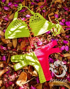 biquini de crochet e lycra em cores by Crochetbikinisbyfabi