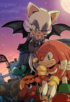 HAPPY HALLOWEEN  A disfrutar ... Knuckles and rouge