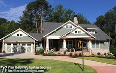 3 Bedroom House Plan With Swing Porch - 16887WG - 02