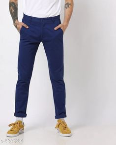 Trousers Regular Fit Men's Trousers Fabric: Cotton Pattern: Solid Type:Stiched Multipack: 1 Sizes:  S (Waist Size: 28 in Length Size: 40 in)  M (Waist Size: 30 in Length Size: 40 in)  L (Waist Size: 32 in Length Size: 40 in)  XL (Waist Size: 34 in Length Size: 40 in)  XXL (Waist Size: 36 in Length Size: 40 in)  Country of Origin: India Sizes Available: 28, 30, 32, 34, 36   Catalog Rating: ★4 (398)  Catalog Name: Ravishing Unique Men Trousers CatalogID_1098562 C69-SC1212 Code: 854-6881284-8901