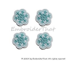 Hey, I found this really awesome Etsy listing at https://www.etsy.com/listing/108533848/snowflake-felt-applique-embellishments