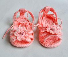PATTERN Crochet Baby sandals/booties for little girls by Danieland, $4.99