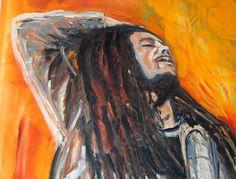 Bob Marley Ölfarbe auf Leinwand