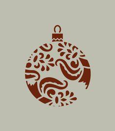 Boule de Noël. Décoration de Noël. Pochoir en vinyle adhésif (ref 177) : Décoration d'intérieur par larabesque