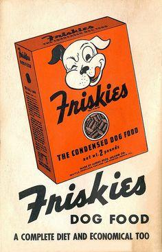 Friskies Dog Food  vintage ad