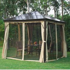 W x 10 Ft. D Steel Patio Gazebo Outsunny online. Shop the latest collection of 10 Ft. W x 10 Ft. D Steel Patio Gazebo Outsunny from the popular stores - all in one Grill Gazebo, Patio Gazebo, Garden Gazebo, Patio Roof, Pergola Plans, Diy Pergola, Backyard Landscaping, Pergola Cover, Pergola Kits