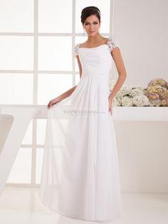 Appliqued-Cap-Sleeve-A-Line-Chiffon-Wedding-Dress.jpg (900×1200)