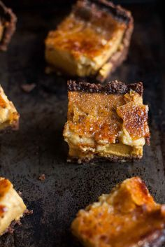 Pumpkin Crème Brûlée Pie Bars (Gluten free, Grain free) - A Calculated Whisk