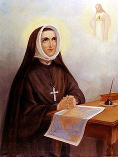 St Rose Philippine Duchesne, RSCJ.  Painting may possibly be by Mother Margaret Mary Nealis, RSCJ.