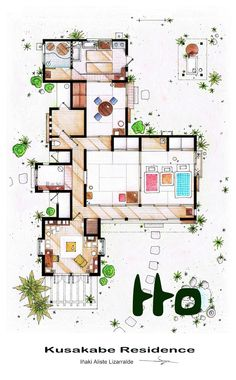 (Totoro) Detailed Floor Plan Drawings of Popular TV and Film Homes - Imgur
