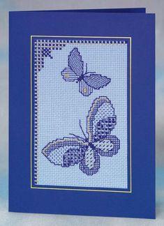 Открытка «Бабочки» вышивка блэкворк