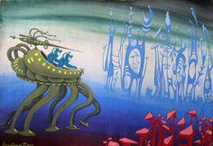Nicholas Nedbaylos soviet retrofuture art 1970s & 1980s.