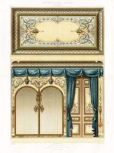 Antique Print Decoration Bathroom Hotel MR X Ceiling Ornament Daly Daumont 1877 | eBay