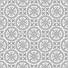 Antique seamless pattern Royalty Free Stock Vector Art Illustration