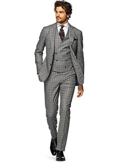 Suit Grey Check Havana P3984   Suitsupply Online Store