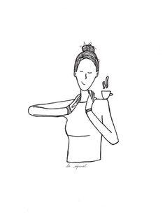 #illustration #illustrationage #follow #drawing #drawingoftheday #commission #work #supporthandmade #vegan #toronto #blackink #coffee #dibujos #amigos #friends #tea #teatime