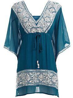 Long Tunic Blouses For Women | Muslim Women Fashions: Islamic Fashion Friendly Tunic Tops