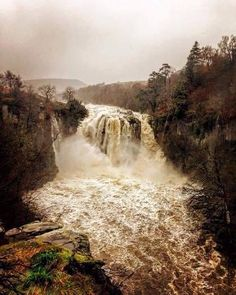 High Force, (during Storm Desmond) Teesdale, North Pennines, England by Craig Gibbon Durham England, North East England, Water Photography, Landscape Photography, Wonderful Places, Beautiful Places, Beautiful Pictures, River Tees, Durham City