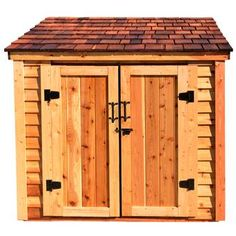 W x 4 ft. D Solid Wood Lean-To Tool Shed Outdoor Living Today SpaceSaver 8 ft. Plastic Storage Sheds, Wooden Storage Sheds, Outdoor Storage Sheds, Outdoor Sheds, Plastic Sheds, Backyard Storage, Lumber Storage, Tool Storage, Garden Shed Kits