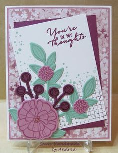 Handmade Card using Falling Flowers stamp set and May Flowers framelit dies by Savvy Handmade Cards, CCMC418
