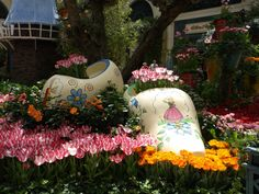 Dutch themed spring gardens in the Conservatory at the Bellagio Las Vegas